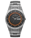 Watch, Men's Gray Tone Titanium Bracelet 40mm SKW6