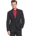 RED Jacket, Slim-Fit Heather Notch Lapel Sportcoat