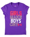 Baby T-Shirt, Baby Girls Slogan Girls Make Boys Cr