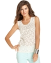 Top, Sleeveless Lace Tank