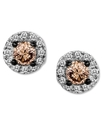 14k White Gold Earrings, Chocolate Diamond (1/4 ct