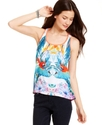 Juniors Top, Sleeveless Printed Tank