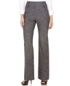 Petite Pants, Textured Button Tab Trousers