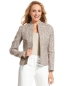 Petite Jacket, Open-Front Tweed