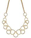 Necklace, Gold-Tone Circle Frontal Necklace