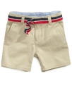 Baby Shorts, Baby Boys Chester Khaki Shorts
