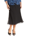 Plus Size Skirt, Georgette Tea-Length
