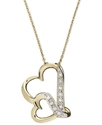Diamond Necklace, 18k Gold Over Sterling Silver Do