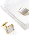 Cufflinks, Gold and Rhodium Cufflinks