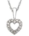 Children&#39;s 14k White Gold Pendant, Diamond Accent 