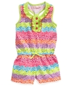 Kids Romper, Little Girls Heart Printed Romper