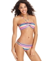 Swimsuit, Striped Halter Bikini Top Women's Swimsu