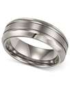 Men&#39;s Titanium Ring, Comfort Fit Wedding Band