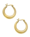 24k Gold Over Sterling Silver Earrings, Knife Edge