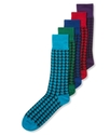 Men's Socks, Single Pack Spectrum Houndstooth Men'