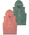 Vest, Burnout Fleece Hooded Vest