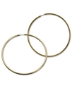 GUESS Earrings, Gold-Tone Large Endless Hoop Earri