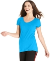Sport Top, Short-Sleeve Scoop-Neck Solid Tee