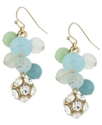 Haskell Earrings, Gold-Tone Multicolor Bead Cluste