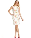 Dress, Sleeveless Floral-Print Sheath