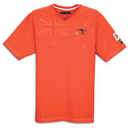 Kangaroo V-Neck S/S T-Shirt - Mens - Orange
