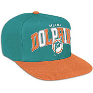 Miami Dolphins Mitchell &amp; Ness NFL Tri-Pop Snapbac