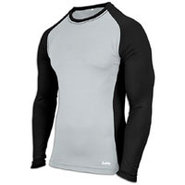 EVAPOR Baseball Compression Top - Mens - Grey/Blac
