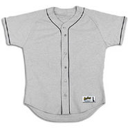 Poly Jersey with Piping - Mens - Grey/Black