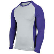 EVAPOR Baseball Compression Top - Mens - Grey/Purp