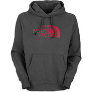 Half Dome Hoodie - Mens - Graphite Grey/Gush Red