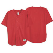 Poly Baseball Jersey - Mens - Scarlet