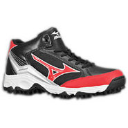 9-Spike Blast 3 Mid - Mens - Black/Red