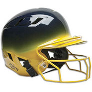 Air-6 2-Color Batters Helmet with Mask - Navy/Gold