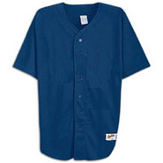 Poly Baseball Jersey - Boys Grade School - Navy