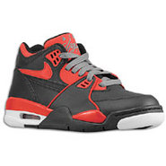 Air Flight 89 - Boys Grade School - Black/Cool Gre
