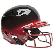 Air-6 2-Color Batters Helmet with Mask - Black/Sca