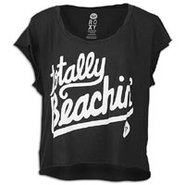 Totally Beachin Crop T-Shirt - Womens - True Black