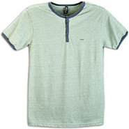Professor Henley S/S T-Shirt - Mens - Ewok Green