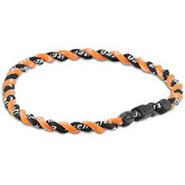 Tornado Titanium Necklace - Black/Orange