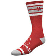 Oklahoma Sooners For Bare Feet College Crew Sock -