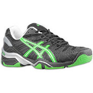 Gel Resolution 4 - Mens - Black/Apple Green/Silver