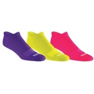Seamless Cushioned Low-Cut 3Pack Socks - Purple Po