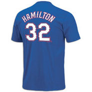 Josh Hamilton Majestic MLB Name and Number T-Shirt