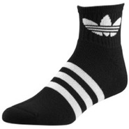 Originals Trefoil Quarter Sock - Mens - Black/Whit