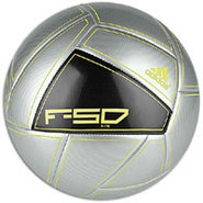 F50 X-ITE Soccer Ball - Metallic Silver/Black/Elec