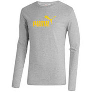 #1 Logo Long Sleeve T-Shirt - Mens - Medium Grey