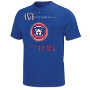 Chicago Cubs Majestic Cooperstown Baseball T-Shirt