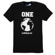 World Globe S/S T-Shirt - Mens - Black/White