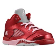 Retro 5 - Girls Toddler - Gym Red/Ion Pink