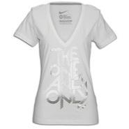 One & Only V-Neck T-Shirt - Womens - White